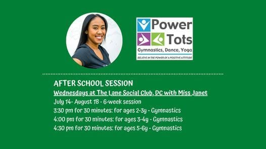 Power Tots SUMMER Session at The Lane Social Club on Wednesdays!, 14 July | Event in Hyattsville | AllEvents.in