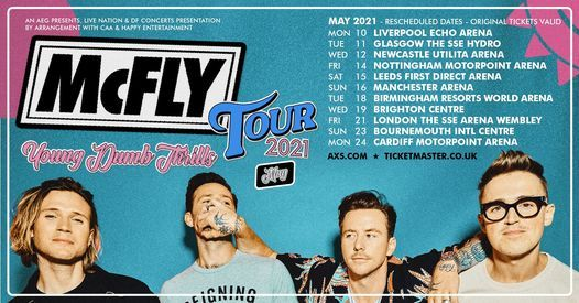 McFly, 23 September   Event in Manchester   AllEvents.in