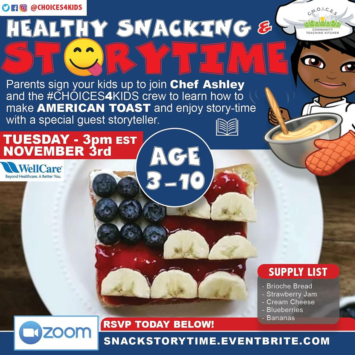 Healthy Snack & Story Time! | Online Event | AllEvents.in
