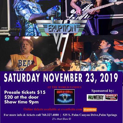 Van Halen Tribute performed by ERUPTION.