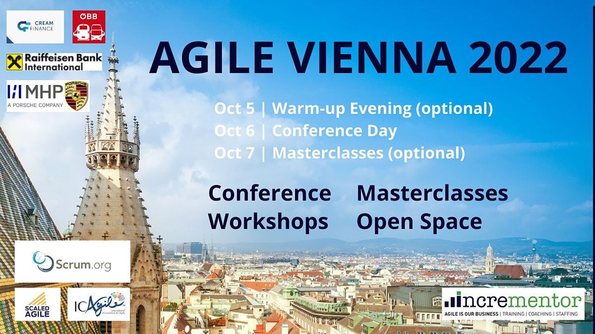Agile Vienna| Conference and optional Masterclasses, 22 September | Event in Vienna | AllEvents.in