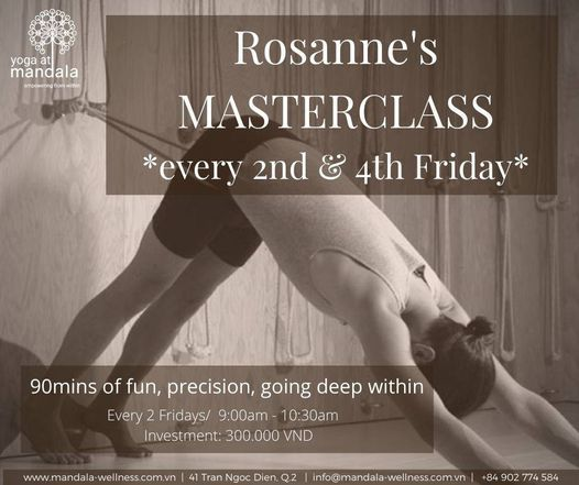 Masterclasses with Rosanne, 23 April | Event in Ho Chi Minh City | AllEvents.in