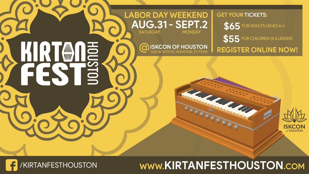 Kirtan Fest Houston 2019 at Hare Krishna Temple & Cultural