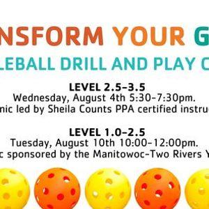 Pickleball Drill & Play Clinics