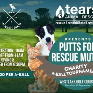 TEARS Putts for Rescue Mutts Charity 4-Ball Golf Tournament