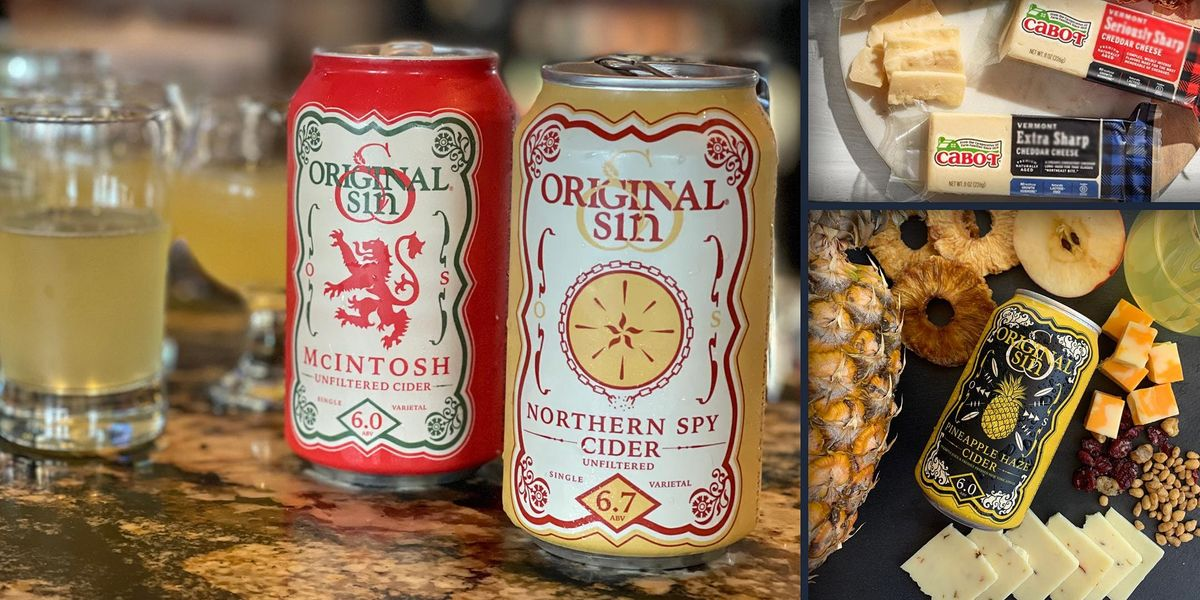 ORIGINAL SIN HARD CIDER & CABOT CHEESE:  Virtual Tasting Special Event, 13 May | Online Event | AllEvents.in