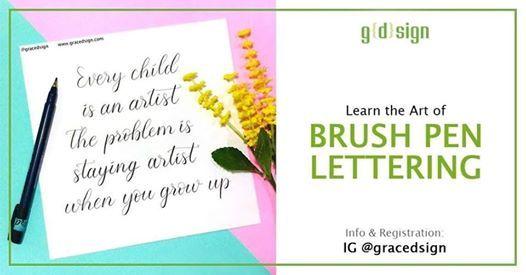 learn the art of brush pen lettering at tesate resto jakarta