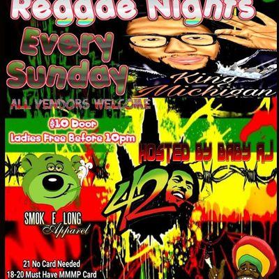 Raggae Nights (Sunday)
