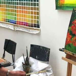 Acrylic painting workshop with Lorna Mackay