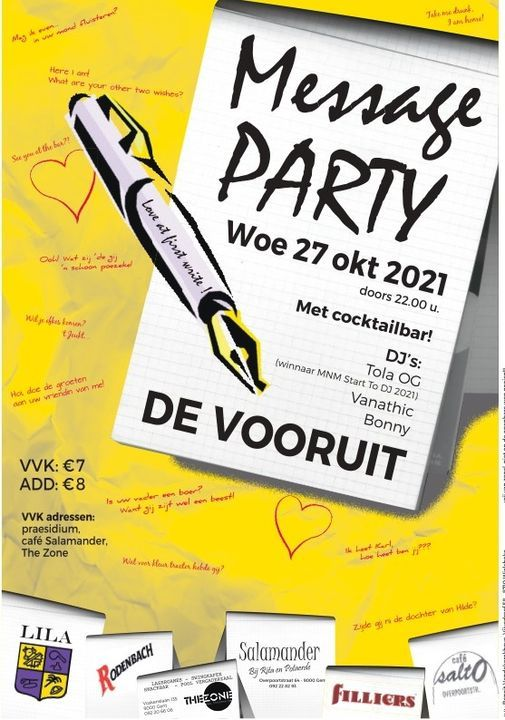 MESSAGE PARTY, 27 October | Event in Merelbeke | AllEvents.in