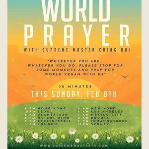 International PrayerMediatation for World Vegan World Peace