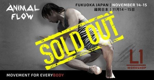 Animal Flow L1 Fukuoka Japan, 14 November | Event in Fukuoka | AllEvents.in