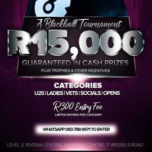 Billiard Cafe - R15000 Blackball Pool Tournament