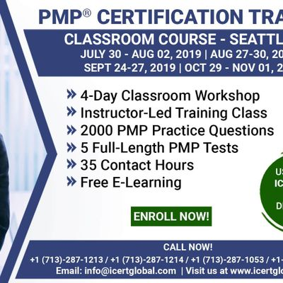 PMP Certification Training Course in Seattle WA USA  4-Day PMP Boot Camp with PMI Membership Included.
