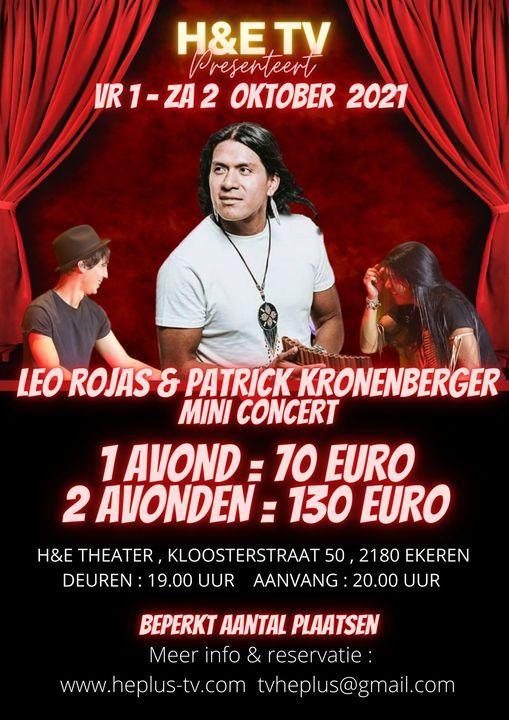 H&E TV LEO ROJAS en PATRICK KRONENBERGER MINI CONCERT / SPECIAL, 1 October | Event in Antwerp | AllEvents.in