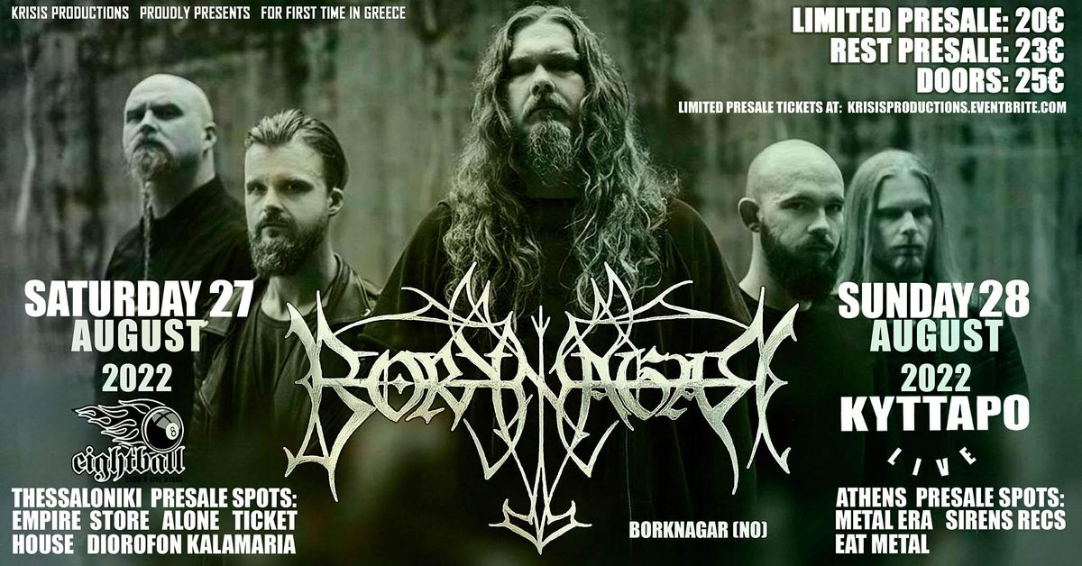 Borknagar Live in Athens, 28 August   Event in Athens   AllEvents.in