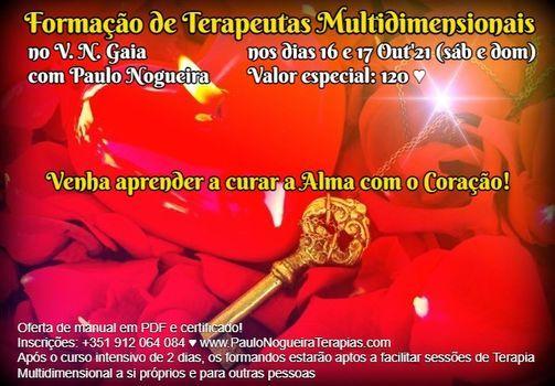 Curso de Terapia Multidimensional em V. N. GAIA em Out'21, 16 October | Event in Vila Nova De Gaia | AllEvents.in