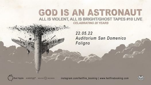 God Is An Astronaut | Auditorium San Domenico, Foligno, 22 May | Event in Foligno | AllEvents.in