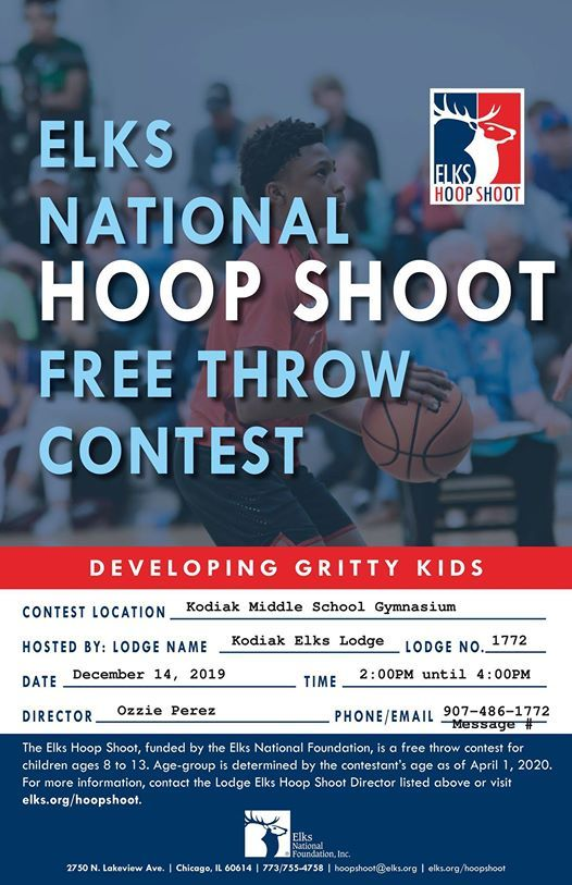Elks National Hoop Shoot Free Throw Contest at Kodiak Middle