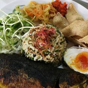 Nasi Ulam  Blue Pea Nasi Lemak Lunch