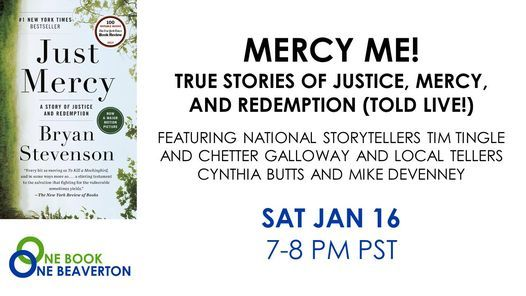 One Book, One Beaverton: Mercy Me! True Stories of Justice, Mercy, and Redemption (Told Live!) | Online Event