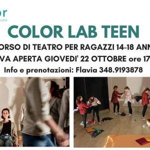 COLOR LAB TEEN - laboratorio di teatro per ragazzi (14-18 anni)