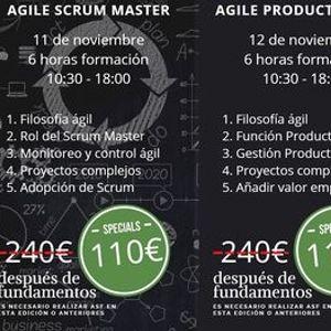 Cursos Agile Scrum Foundation - Scrum Master - Product Owner - Barcelona