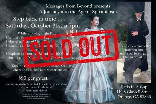 Messages from Beyond Oct 31, 31 October | Event in Orange | AllEvents.in