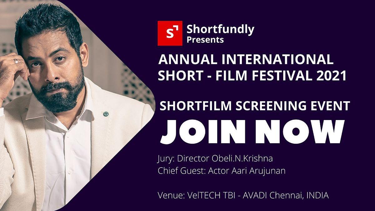 Shortfundly Annual ShortFilm Festival 2021, 25 July | Event in Chennai | AllEvents.in