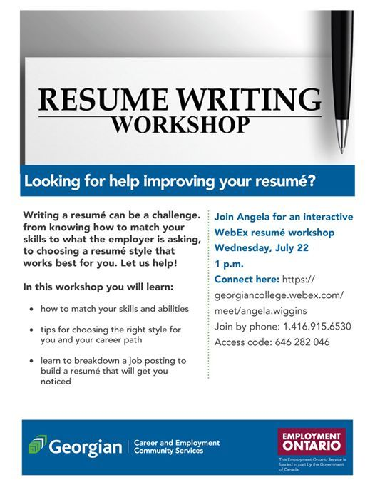 Resume Writing Workshop At Join Event Online Event