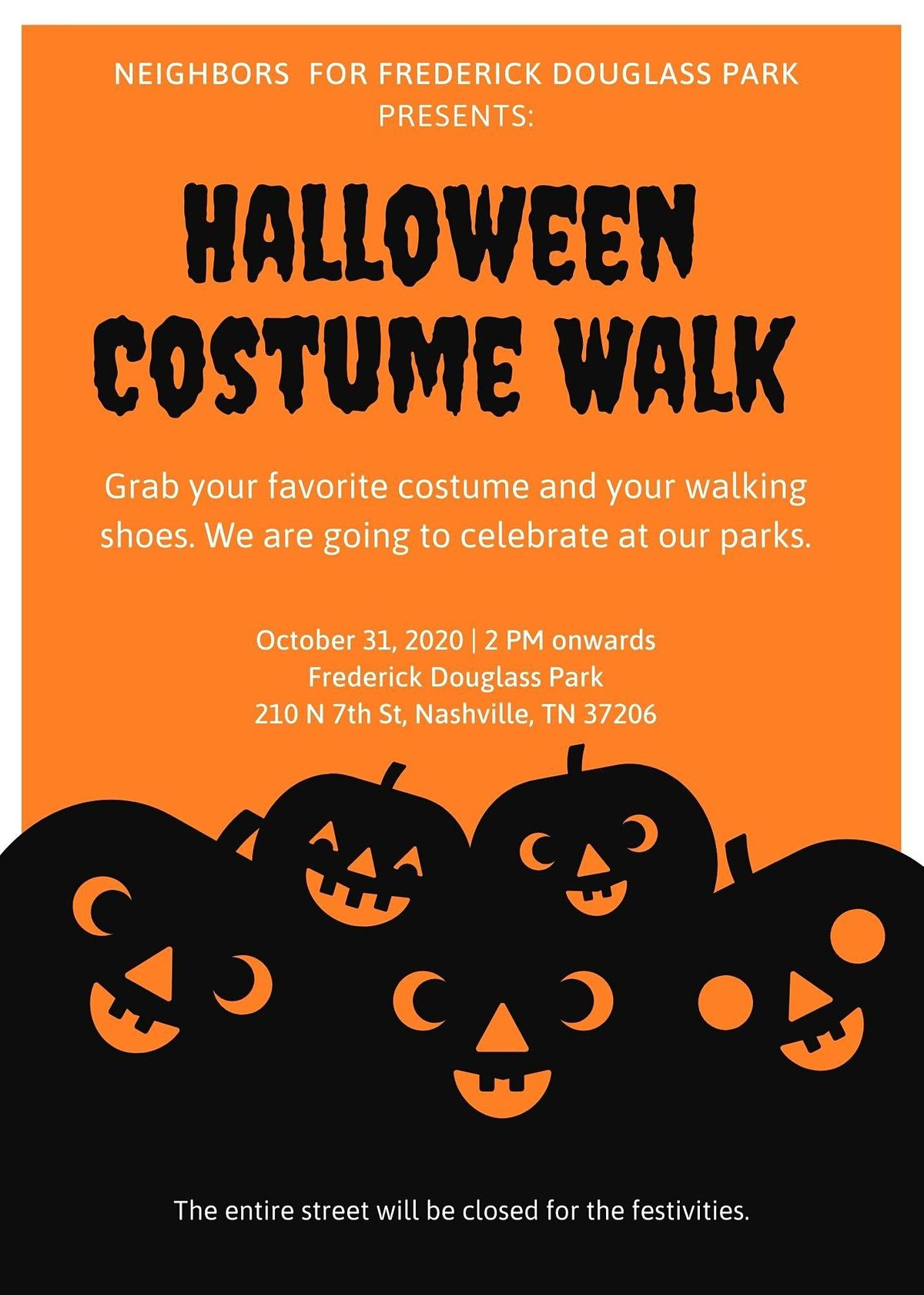 Halloween Costume Walk at Frederick Douglass Park, 31 October | Event in Nashville | AllEvents.in