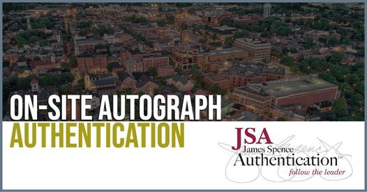 JSA at Primetime Sports Collectibles, 12 June | Event in Frederick | AllEvents.in