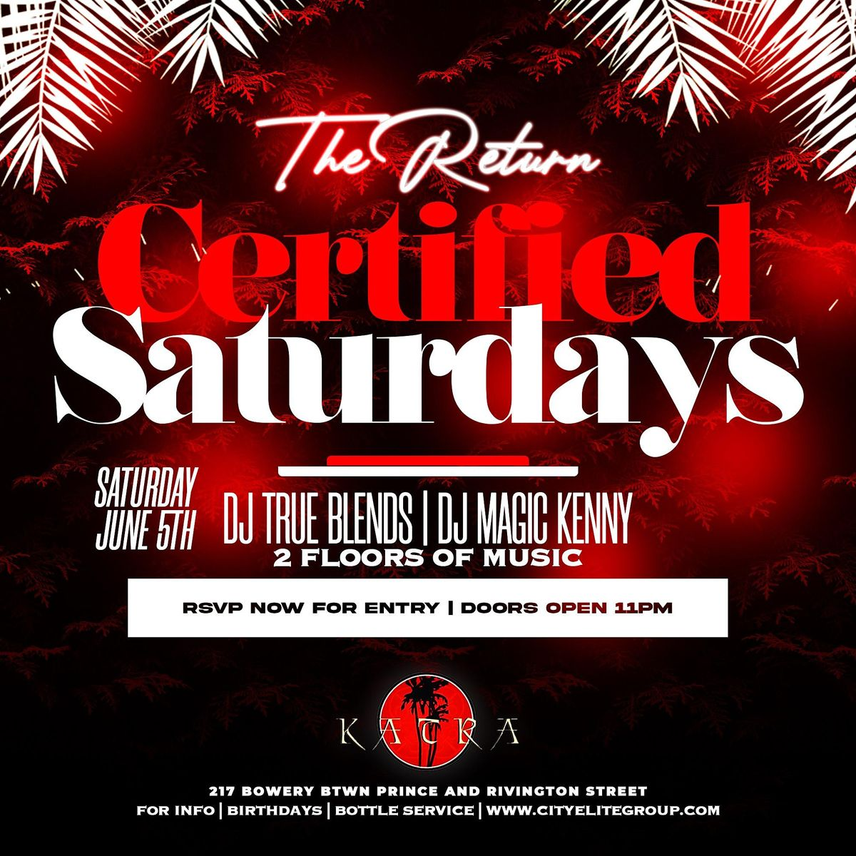 Nyc #1 Certified Saturdays at Katra nyc | Event in New York | AllEvents.in