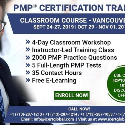 PMP Certification Training Course in Vancouver BC  4-Day PMP Boot Camp