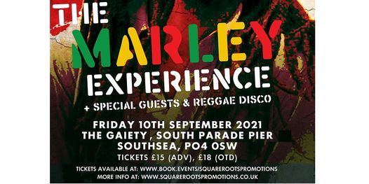 The Marley Experience at The Gaiety Southsea South Parade Pier, 10 September | Event in Fareham | AllEvents.in