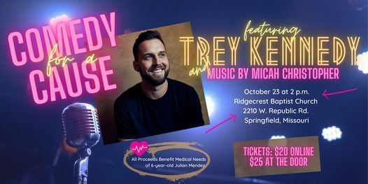 Comedy for a Cause Featuring Trey Kennedy, 23 October | Event in Springfield | AllEvents.in