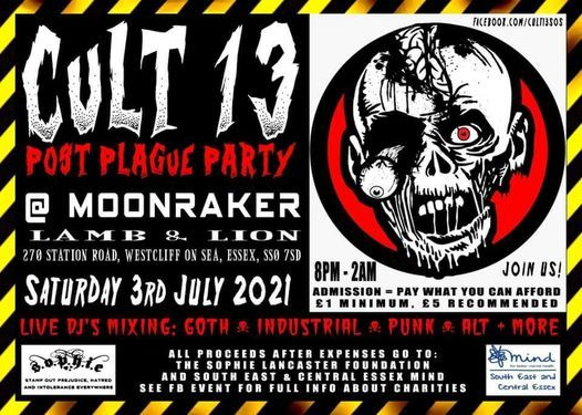 Cult 13 - Post Plague Party, 3 July | Event in Southend-on-sea | AllEvents.in