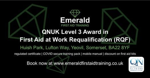 QNUK Level 3 Award First Aid at Work (RQF) Requalification, 25 March | Event in Yeovil | AllEvents.in