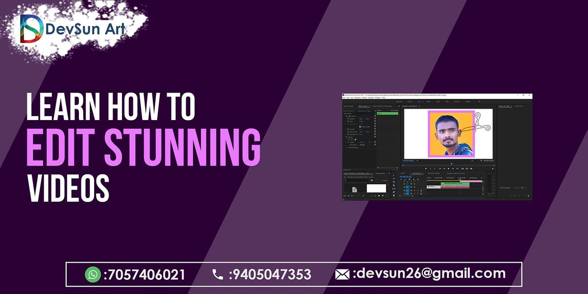 Professional Video Editing Workshop By DevSun Art   Online Event   AllEvents.in