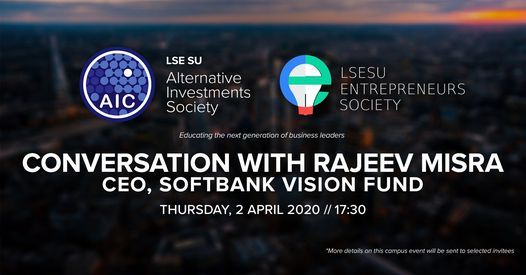 Conversation with SoftBank Vision Fund's CEO, 1 December | Event in London | AllEvents.in