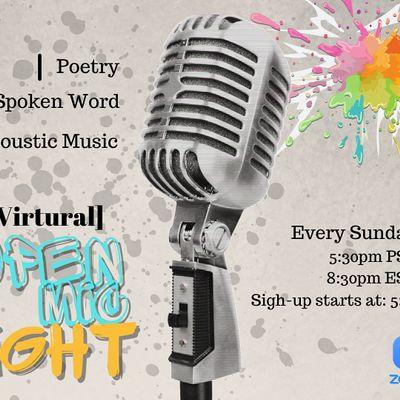 Verses & Prose Virtual Open Mic Night