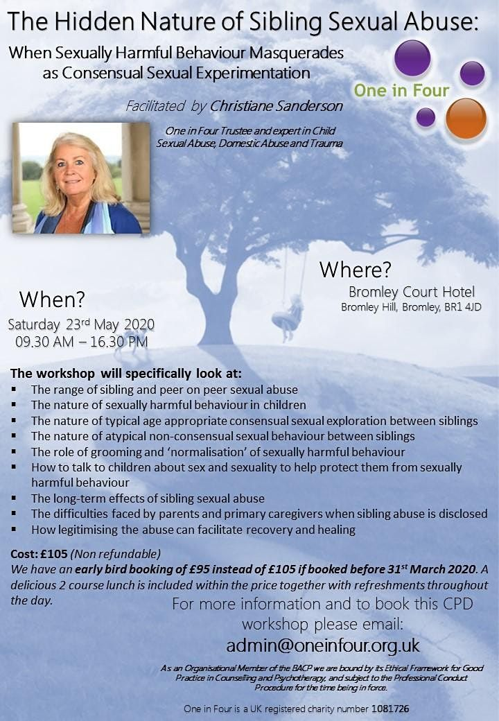 The Hidden Nature of Sibling Sexual Abuse, 6 February | Event in Bromley | AllEvents.in