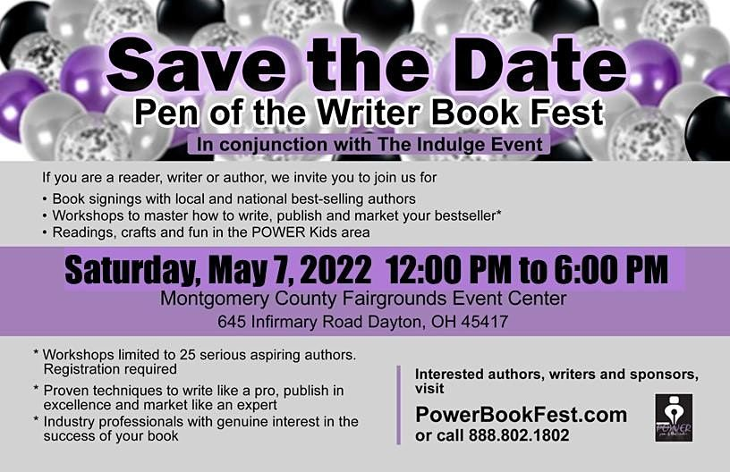 Pen of the Writer Book Fest in conjunction with The Indulge Evnt, 6 May | Event in Dayton | AllEvents.in