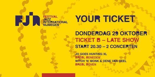 Dag 1 FJIN 2020 Ticket B • Jo Goes Hunting XL • Witch 'n' Monk & Oene van Geel, 29 October | AllEvents.in