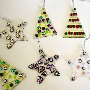 Fused Glass Festive Tree Hangings (half-day workshop) - FULLY BOOKED