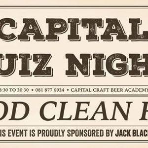 Capital Craft Quiz Night