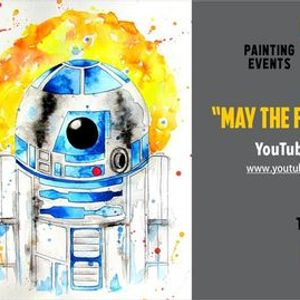 FREE Watercolour Painting Class May The Force Be With You