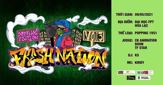 Fresh Nation Vol.3 - Popping Edition, 27 June | Event in Hanoi | AllEvents.in