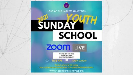 ZOOM Youth Sunday School 2021! | Online Event | AllEvents.in