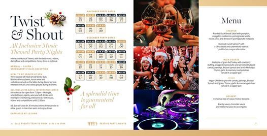 Twist & Shout - All Inclusive Christmas Party Nights